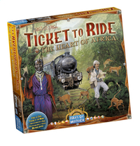 Ticket to Ride uitbreiding: The Heart of Africa-Linkerzijde