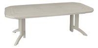 Grosfillex table de jardin à rallonge Vega blanc L 160 x Lg 100 cm-Côté gauche