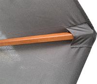 Parasol de luxe en bois FSC 3 x 2 m gris-Détail de l'article