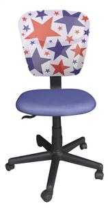Chaise de bureau pour enfants Stars bleu-Avant