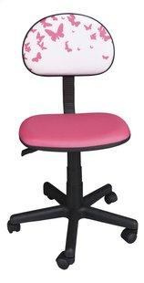 Chaise de bureau pour enfants Papillons rose