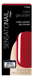 SensatioNail Gel Polish Scarlett Red-Avant