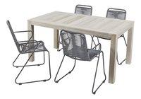 Ensemble de jardin Ulm 160 cm / Ibiza gris - 4 chaises-Détail de l'article