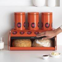 Brabantia Boîte à pain avec couvercle coulissant Patrice orange-Image 1