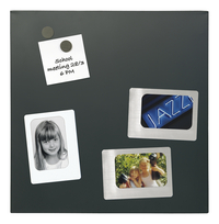 Naga glazen memobord 45 x 45 cm zwart-Vooraanzicht