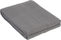 Sleepnight Couvre-lit Spiga gris coton 240 x 260 cm-Avant