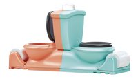 Toilet Pret duel-Linkerzijde