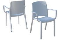 Grosfillex chaise de jardin Milton blanc