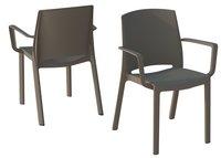 Grosfillex chaise de jardin Milton taupe