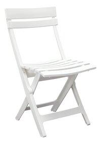 Grosfillex chaise pliante Miami blanc