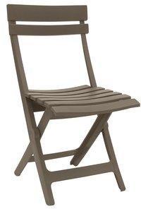 Grosfillex chaise pliante Miami taupe