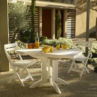 Grosfillex table de jardin Vega 118 blanc 120 x 80 cm | ColliShop