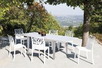 Grosfillex verlengbare tuintafel Vegetal wit 150 x 90 cm-Afbeelding 1