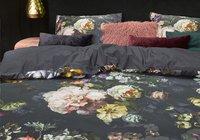 Essenza Housse de couette Fleur satin de coton bleu nuit 140 x 220 cm-Image 1