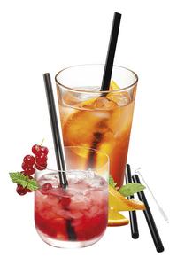 Gefu 4 pailles à cocktail Future avec écouvillon-Détail de l'article