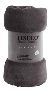 Tiseco Home Studio Plaid grey microflanel B 130 x L 160 cm