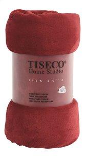 Tiseco Home Studio Plaid red microflanelle Lg 130 x L 160 cm-Avant