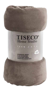 Tiseco Home Studio Plaid taupe microflanelle Lg 130 x L 160 cm