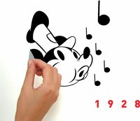 Mickey Mouse Muursticker.Muurstickers Mickey Mouse Classic 90th Anniversary Collishop