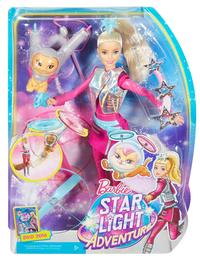 Barbie mannequinpop Star Light Avontuur met Pupcorn-Vooraanzicht