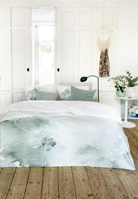 Walra Housse de couette Green blossom jade coton 140 x 240 cm-Image 3