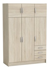 Demeyere Meubles Garde-robe 6 portes et 3 tiroirs Magnum décor chêne-Avant