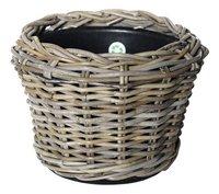 Van der Leeden Rotan bloempot Drypot 32 cm grijs