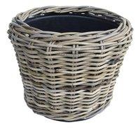 Van der Leeden Rotan bloempot Drypot 36 cm grijs
