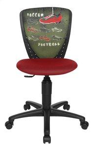 Topstar chaise de bureau pour enfants Nic foot rouge/vert-Avant