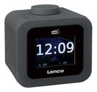 Lenco wekkerradio CR-620 DAB+/FM donkergrijs-Linkerzijde