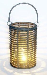 Van der Leeden Windlicht 25 cm grijs