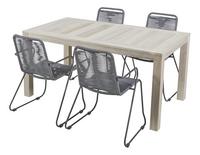 Ensemble de jardin Ulm 160 cm / Ibiza gris - 4 chaises-Côté droit