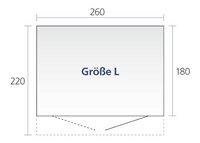 Biohort Abri de jardin avec porte simple AvantGarde gris foncé 220 x 260 cm-Détail de l'article