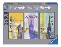 Ravensburger Puzzel 3-in-1 Reis om de wereld