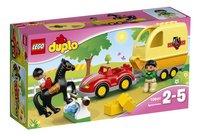 LEGO DUPLO 10807 Paardentrailer-Vooraanzicht