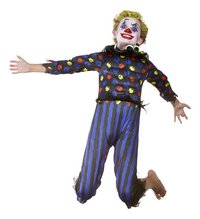 Verkleedpak duivelse clown maat 128