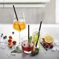 Gefu 4 pailles à cocktail Future avec écouvillon-Image 3