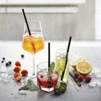 Gefu 4 cocktailrietjes Future met reinigingsborsteltje-Afbeelding 3