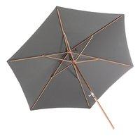 Parasol de luxe en bois FSC avec manivelle diamètre 3 m gris-Détail de l'article
