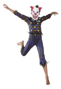 Verkleedpak duivelse clown maat 164-Afbeelding 1
