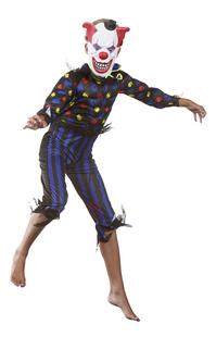 Déguisement de clown diabolique taille 164-Image 3