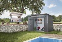 Biohort Abri de jardin avec porte double AvantGarde gris foncé 380 x 260 cm-Image 1
