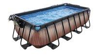 EXIT piscine Wood avec coupole et filtre à sable 4 x 2 m-Détail de l'article