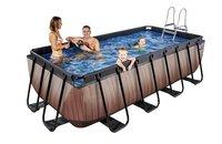 EXIT piscine Wood avec filtre à sable 4 x 2 m-Image 1