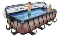 EXIT piscine Wood avec coupole et filtre à sable 4 x 2 m-Image 1