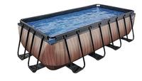 EXIT piscine Wood avec filtre à sable 4 x 2 m-Côté droit