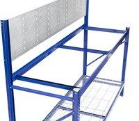 Avasco Werkbank Work blauw B 190 cm-Bovenaanzicht