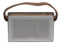 Denver haut-parleur Bluetooth BTS-200 argent/brun-Avant