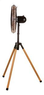 Domo Ventilator op voet Wood style DO8146 zwart metaal/houtlook-Rechterzijde