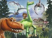 Ravensburger XXL puzzel The Good Dinosaur Arlo en Spot op avontuur-Vooraanzicht